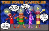 The Four Candles; challenge to remodel The Four Marys from Bunty. Art by Mistyfan.