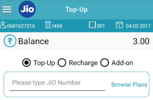 Recharge jio customer number