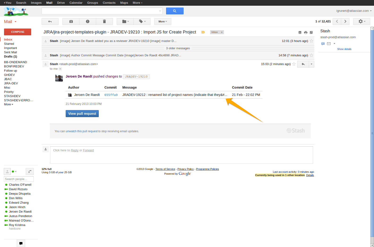 [BSERV-3158] Apostrophes in commit messages not rendered correctly in pull request emails