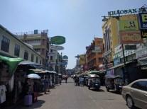 Daylight on Khao San Road.