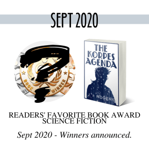 Partial image of the Readers' Favorite Book Award medals. Winner announced - Sept 2020