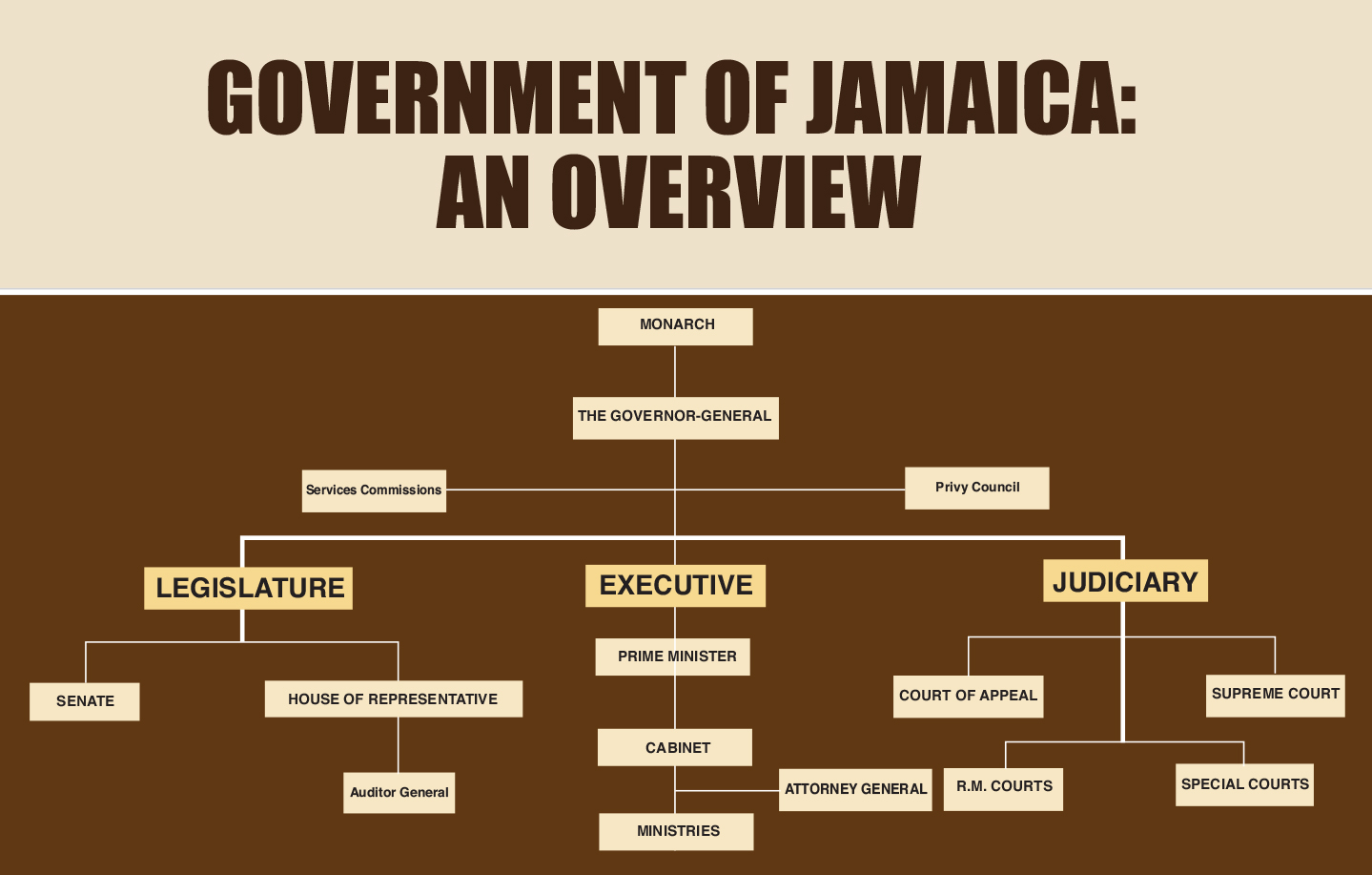 hight resolution of overview of the government of jamaica