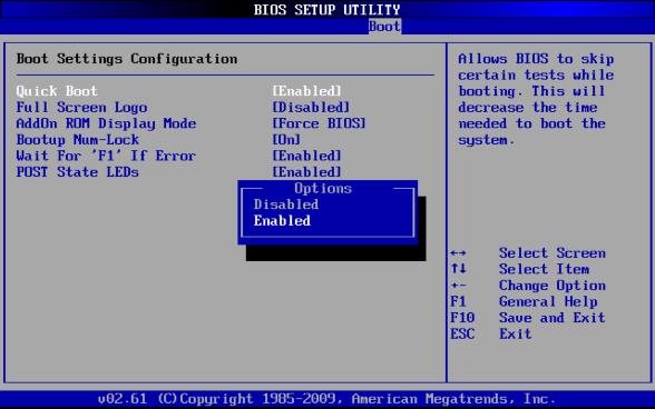 Quick Bootを有効にして起動時間を短縮(AMI BIOS限定) | Windows高速化 ...