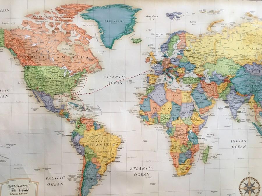 Travel Map Decor