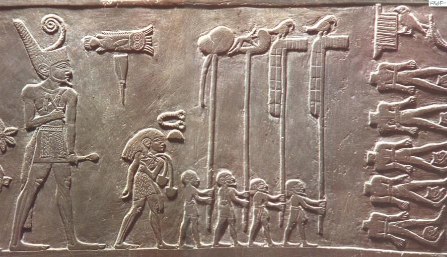 #13.Palette of King Narmer. Predynastic Egypt. c. 3000–2920 BCE. Greywacke.