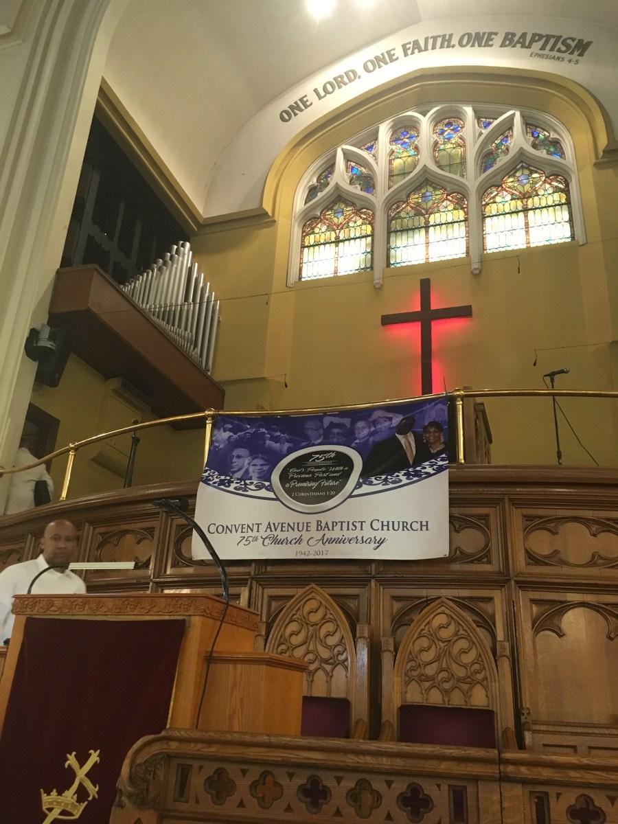 Worshiping at Convent Avenue Baptist Church