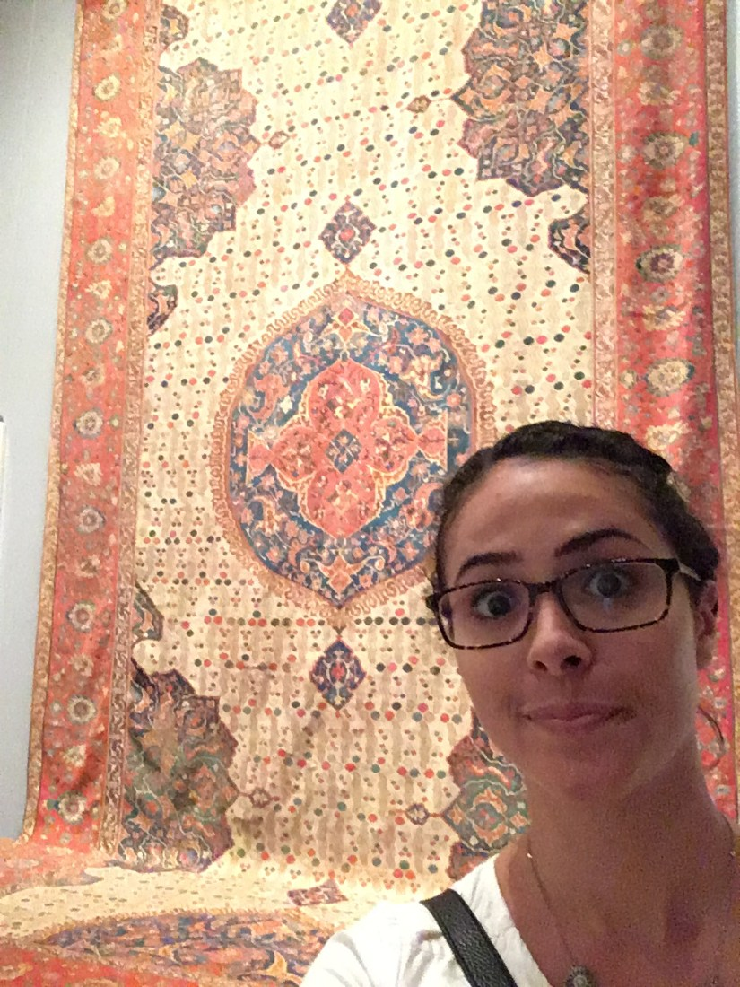 Met-Arabic carpet with me