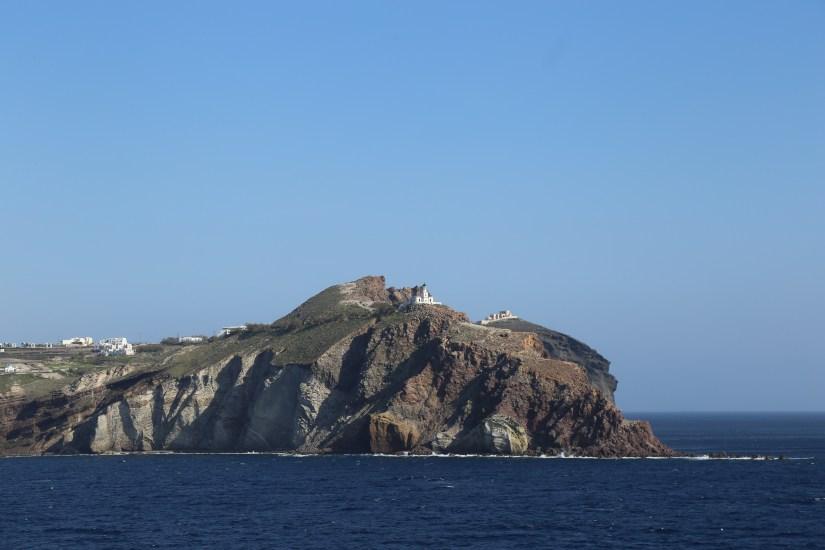 Santorini coastline horizontal