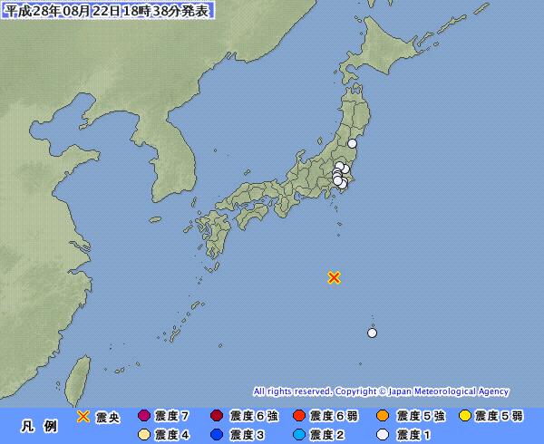 地震予知情報  鳥島M5、7