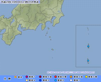地震予知情報 父島M5.5 国内注意のこり3日間