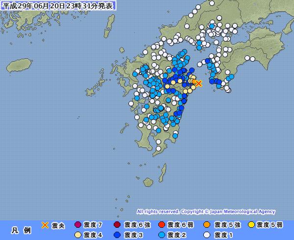 地震予知 予測 九州北部 震度5強