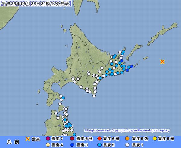 地震予知 前兆 国内シグナル静寂傾向 北海道東方沖M5.7