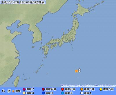 地震予知 小笠原M5.9 国内M6警戒のこり7日間
