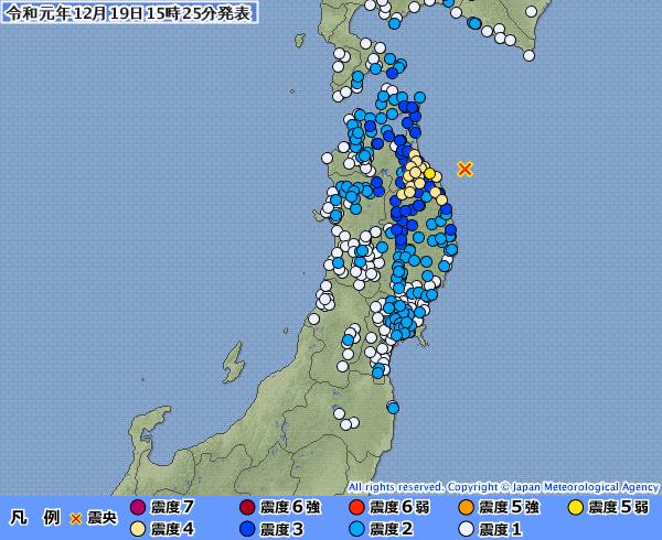 地震予知 青森震度5弱 国内M6~M7注意は続行