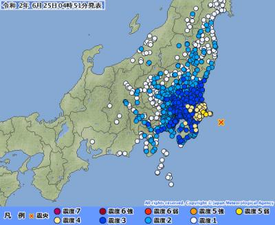 地震予知 千葉東方M6.2 国内M6注意のこり6日間