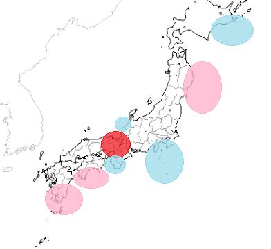 地震予知 国内シグナル多発 国内M6気配