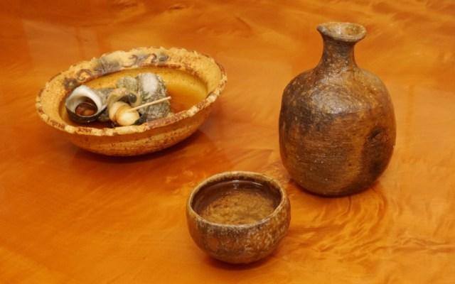 ヒメサザエの含め煮と日本酒