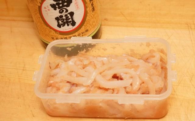 イカ明太に日本酒の旨味