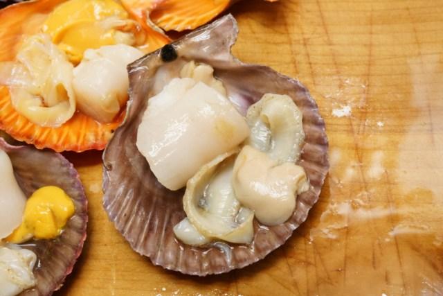 ヒオウギ貝を下処理した美味しい可食部