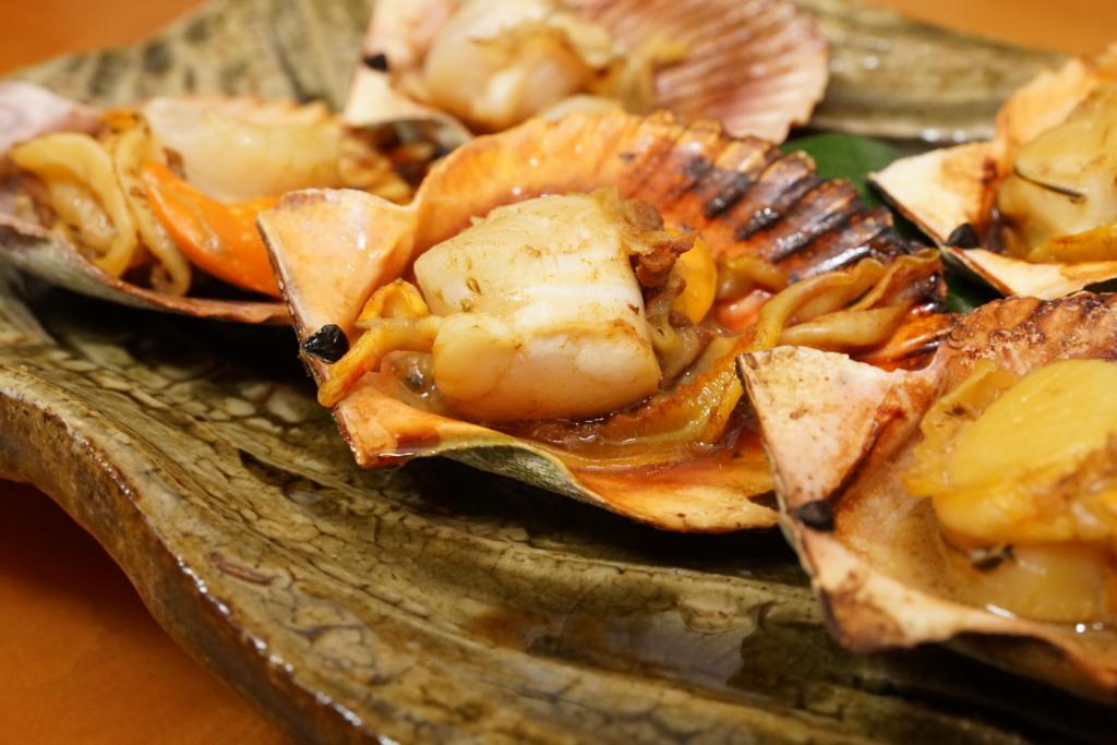 ヒオウギ貝のバター醤油焼き拡大写真