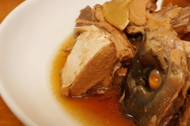 ブリのアラ煮で美味しいカマトロ