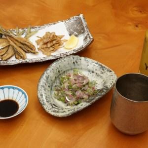 小アジの血合い骨を取らずに簡単で美味しく食べられる刺身「たたき」の作り方