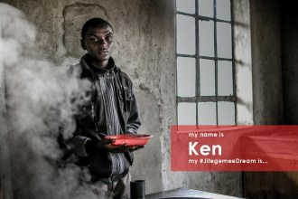 My name is Ken. I am 18 and in my last year of high school. I live with my grandmother and my younger brother in a single room in Mjini slum, Machakos. I used to be out of school for weeks because my family couldn't afford school fees. Now I feel empowered and am able to perform at the top of my class. My #JitegemeeDream is to join university next year so I can get a good job and support other children like me.