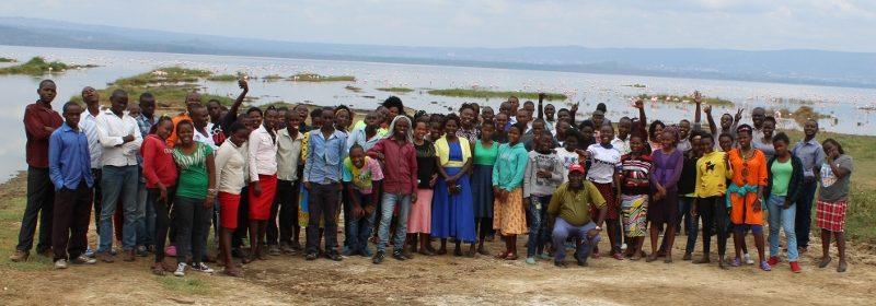 Greetings from Jitegemee at glorious Lake Nakuru!