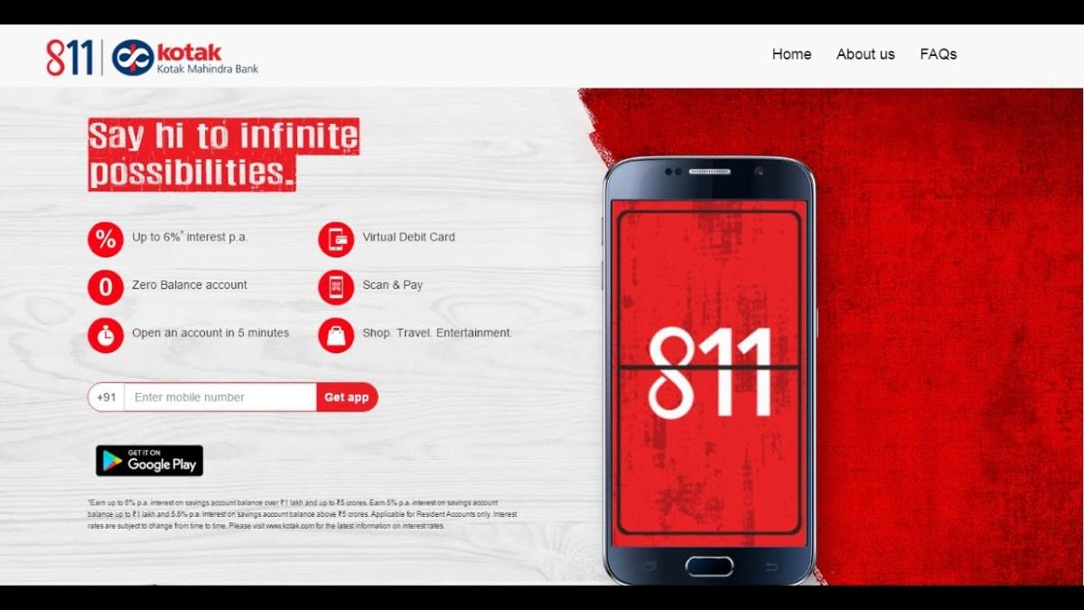kotak mahindra bank zero balance account opening online