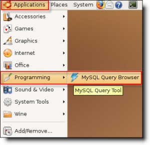 open mysql query browser in ubuntu