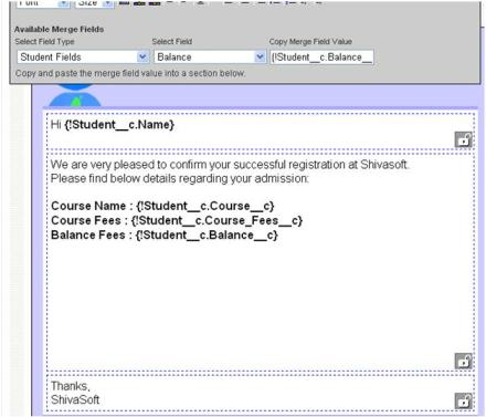 Email Template in Salesforce with letter head