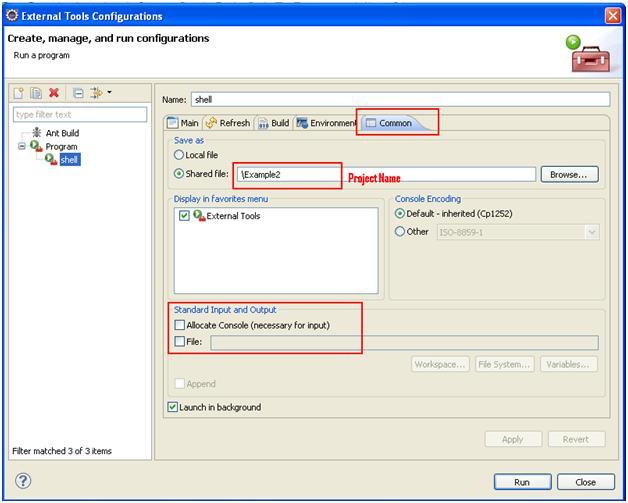 External Tools Configurations Eclipse Create New Screen 2