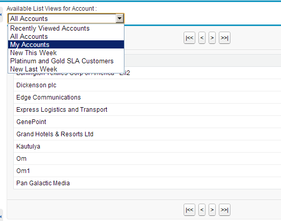 Use ListView in Visualforce with Paging and Navigation
