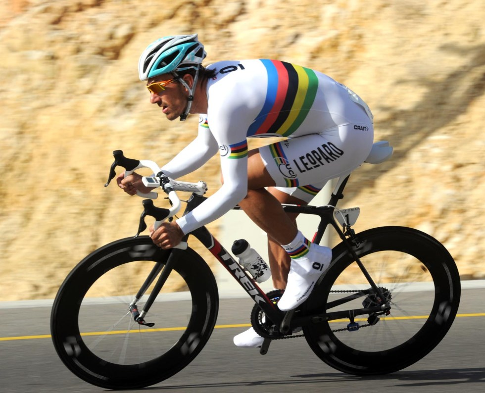 FABIAN CANCELLARA ON STAGE FIVE OF THE 2011 TOUR OF OMAN