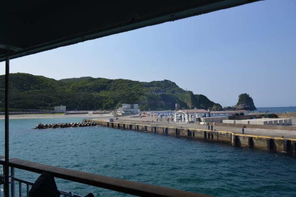 新島に到着