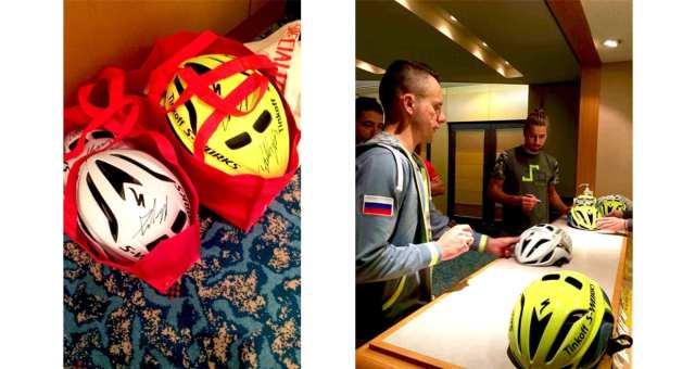 スペシャライズド、ペテル・サガンとラファウ・マイカのサイン入りヘルメットをプレゼント