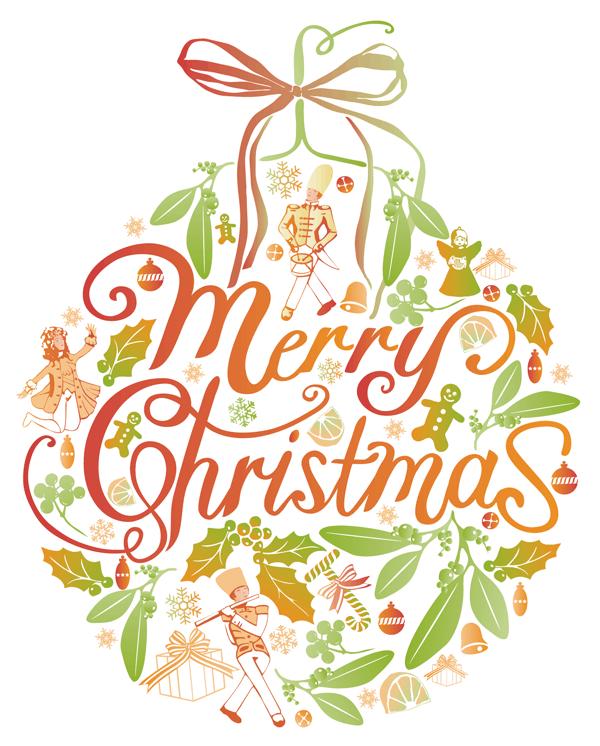 Free Merry Xmas Greeting Card Illustration Jitesh Patel