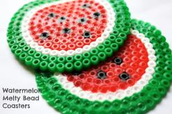 melty-bead-watermelon-coasters