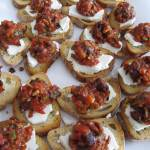 wedding menu, Roasted Red Pepper, Sun Dried Tomato Tapenade