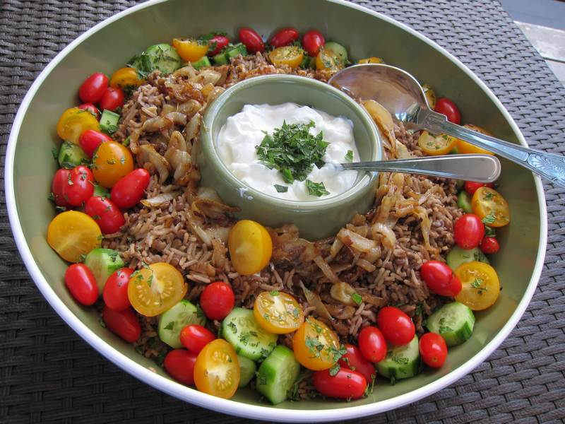 Lentil and Rice Pilaf with Caramelized Onion