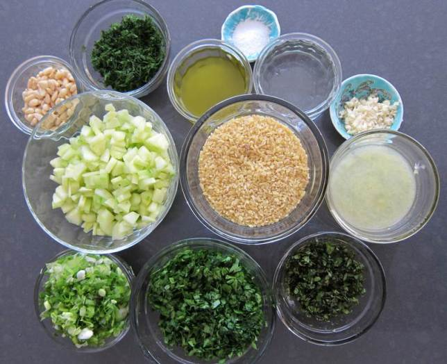 Parsley Cucumber Mint Bulgur Salad