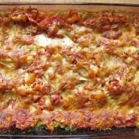 Spinach Lasagna with Sweet Tomato Sauce