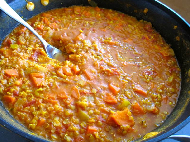 Spicy Lentil Carrot Soup