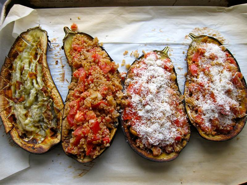 Roasted Stuffed Eggplant – Original!