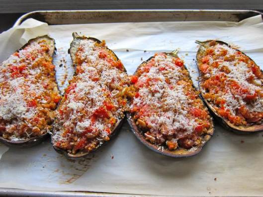 Roasted Stuffed Eggplant