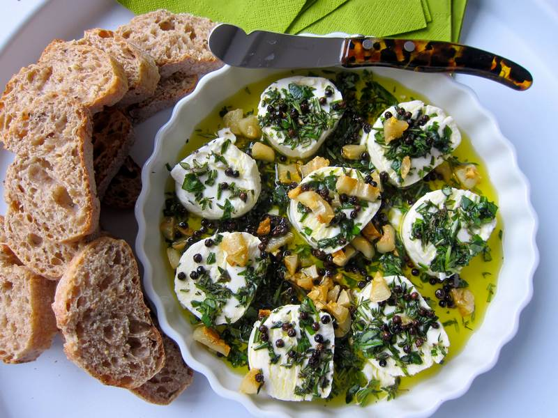 Black Pepper Goat Cheese Appetizer
