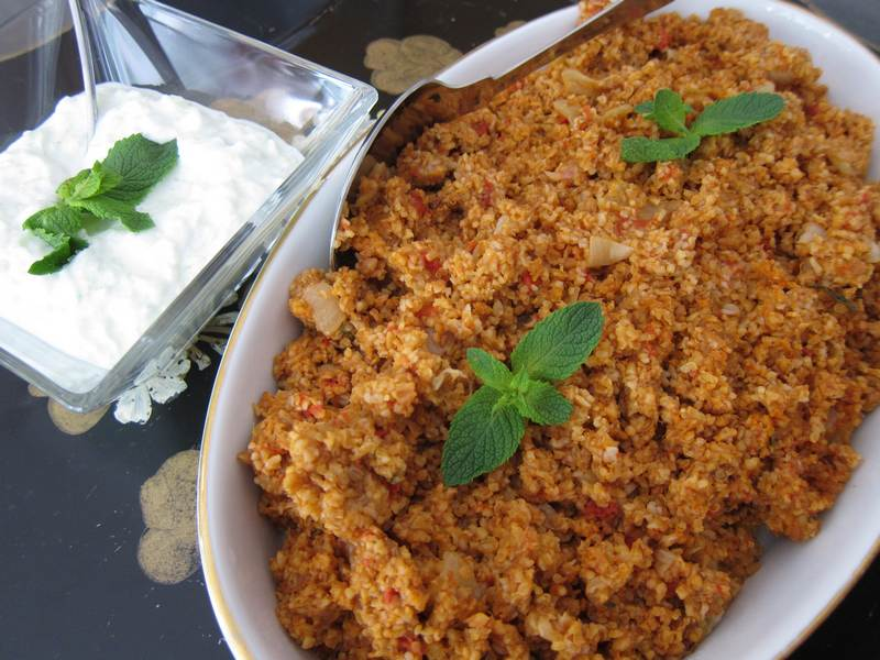 Tomato Bulgur and Cucumber Yogurt – Simply Delicious