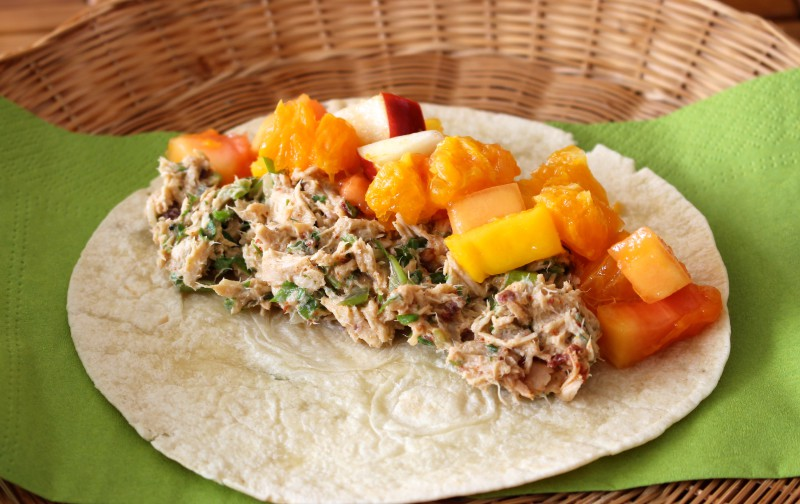 Wicked Tuna Tortillas with Fruit Salsa