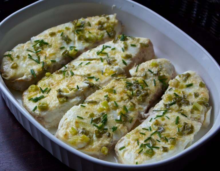 Parmesan Broiled Halibut Steaks