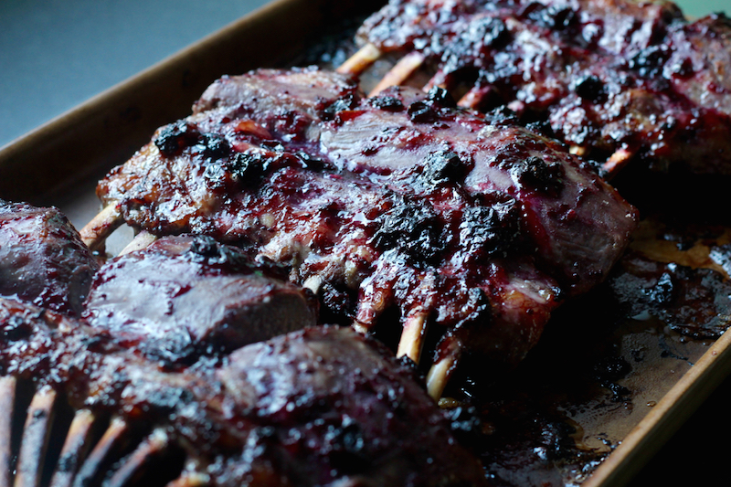 Blackcurrant Rack of Lamb - Homemade Mint Sauce